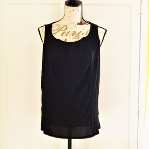 Merona Black Tank Blouse Sz XL